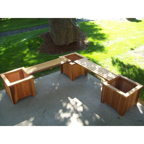 Wood Planter Bench by Wood Country