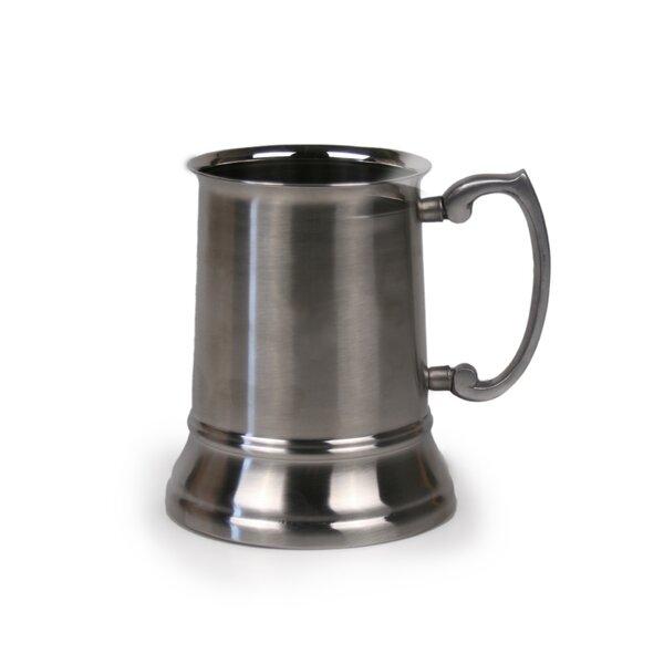 Beer Tankard 16 oz. Stainless Steel Mug by Jodhpuri