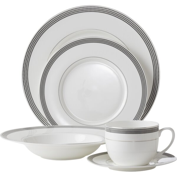 Bone China Inspiration Pearl 5 Piece Place Setting, Service for 1 by Flato Home Products