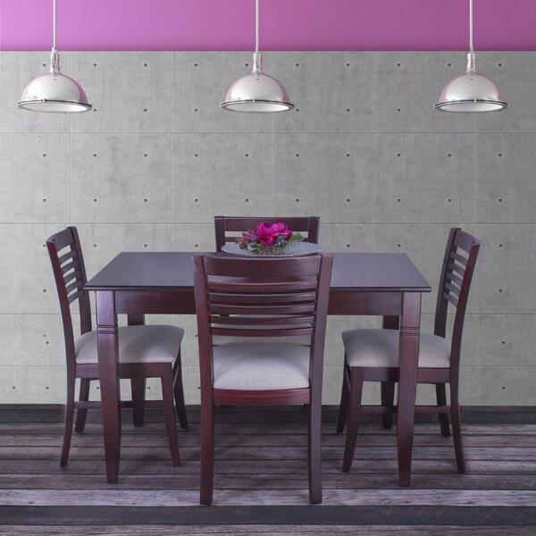 Goris 5 Piece Solid Wood Dining Set by Red Barrel Studio