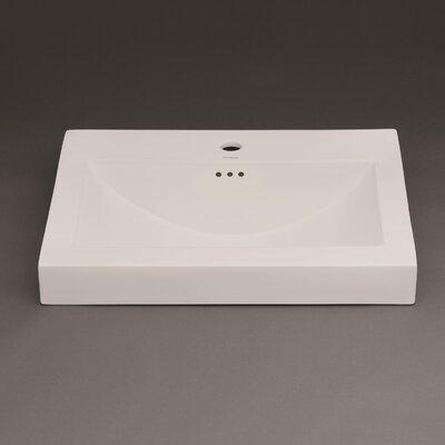 evin ceramic sinktop self rimming bathroom sink