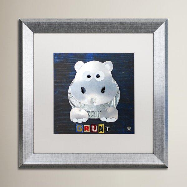 Wilbur Grunt The Hippo by Design Turnpike Wood Framed Art by Zoomie Kids