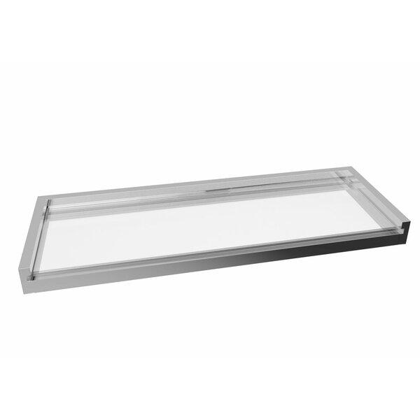Spero Glass Wall Shelf by Orren Ellis