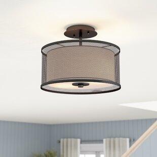 Compare & Buy Normandin 2-Light Semi Flush Mount By Gracie Oaks