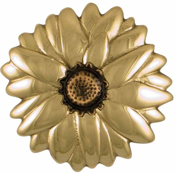 Brass Sunflower Door Knocker by Michael Healy Designs