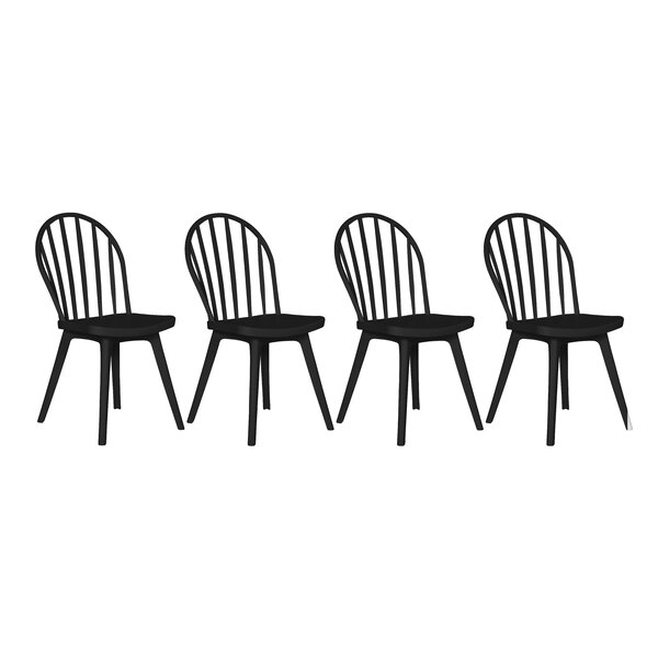 Bourgoin Patio Dining Chair (Set of 4) by Canora Grey