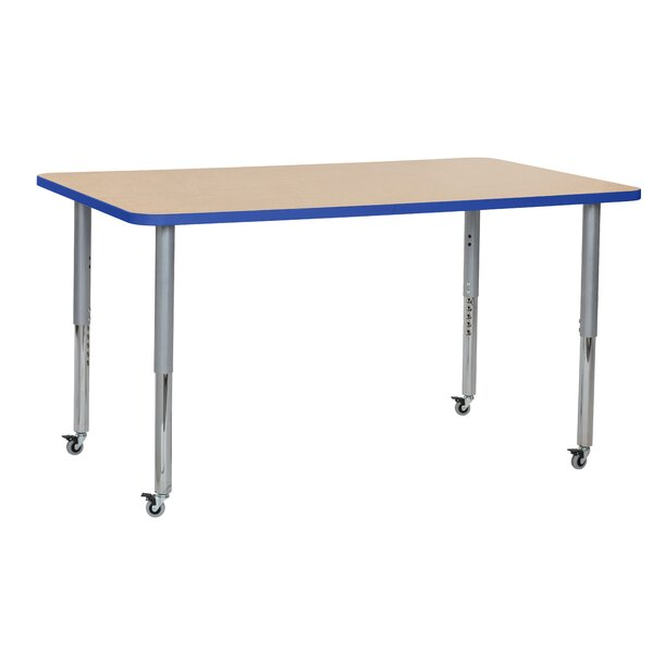 Maple Top T-Mold Adjustable 36 x 60 Rectangular Activity Table by ECR4kids