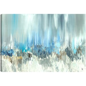 Blue Visuals' by Sanjay Patel Wall Art on Wrapped Canvas by Hobbitholeco.