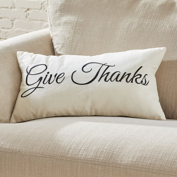Give Thanks Pillow Cover by Birch Lane™
