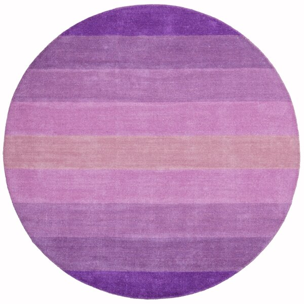 Degarmo Purple Stripes Area Rug by Mercury Row