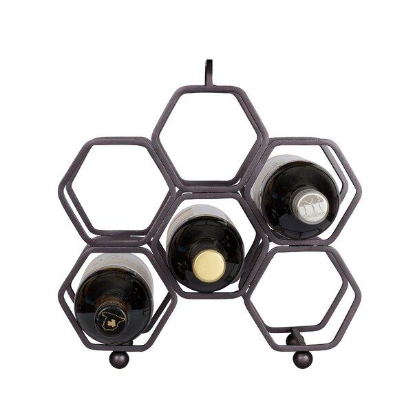 Jacobson Hexagonal 6 Bottle Tabletop Wine Rack by Wrought Studio