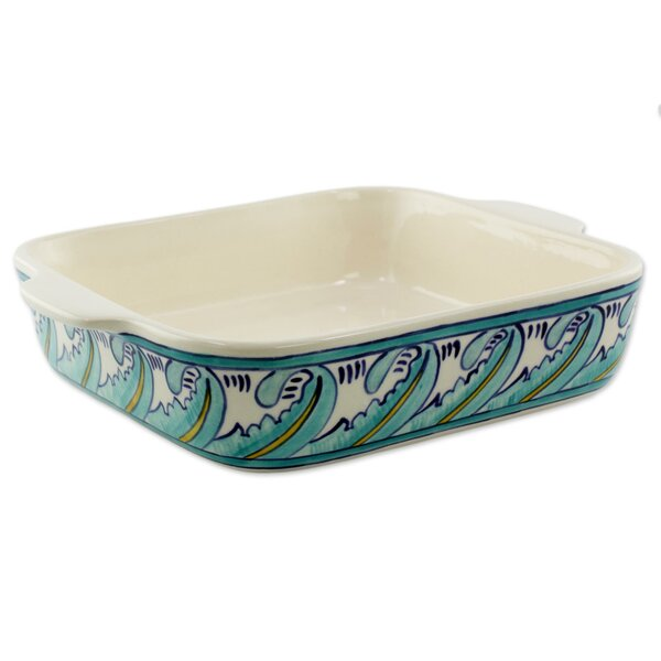 Handcrafted Ceramic Baking Dish by Novica