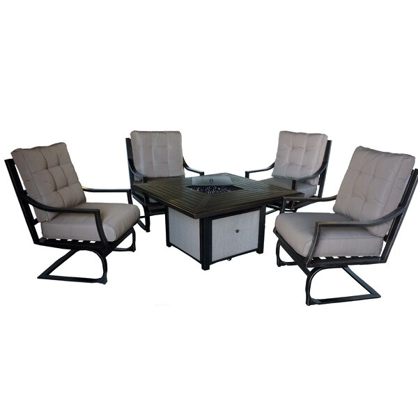 Terrones 5 Piece Multiple Chair Seating Group with Cushions by Brayden Studio Brayden Studio