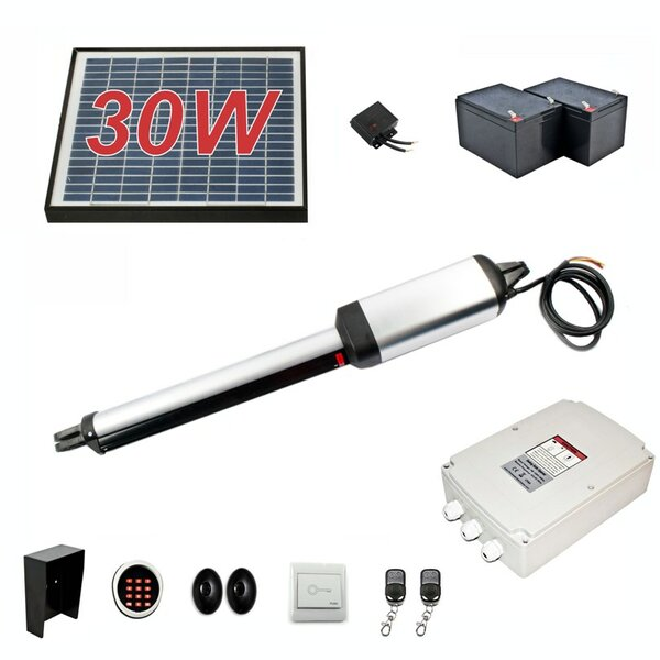 Single Swing Gate Operator 30W Solar Kit by ALEKO