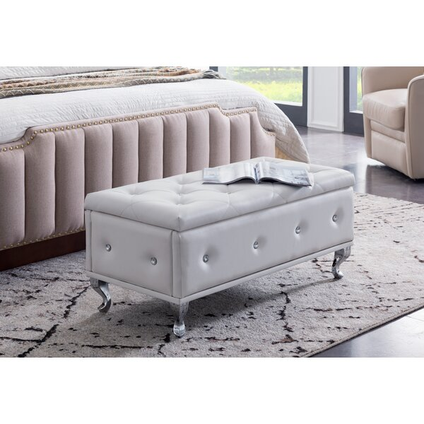 Chute Upholstered Storage Bench by House of Hampton