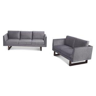 Pulaski 2 Piece Velvet Living Room Set by Wade Logan®