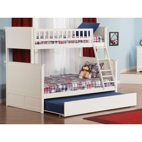 Abbie Twin Over Full Bunk Bed with Trundle by Harriet Bee