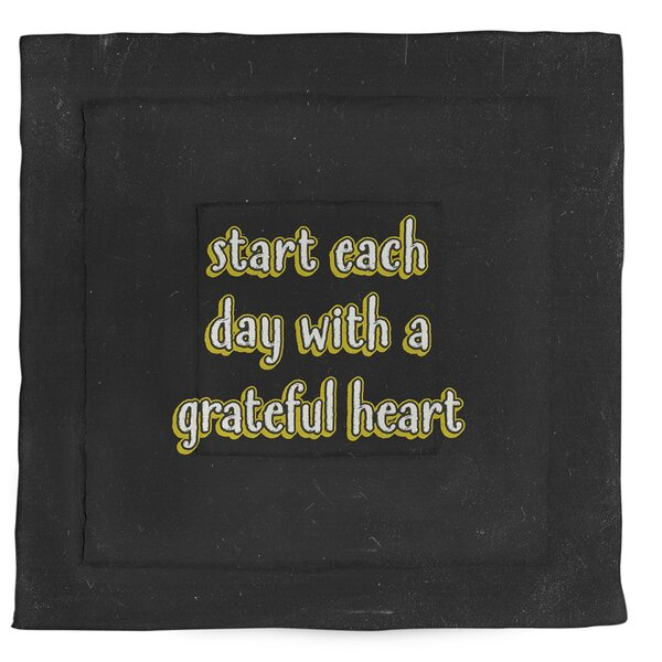 Gratitude Inspirational Quote Single Reversible Comforter