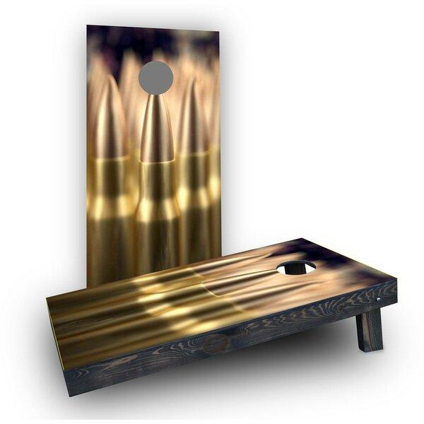 Brass Ammunition Cornhole Boards (Set of 2) by Custom Cornhole Boards