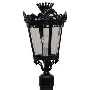 Great deal Phillipstown 1 Light 17.5 Post Lantern By Alcott Hill