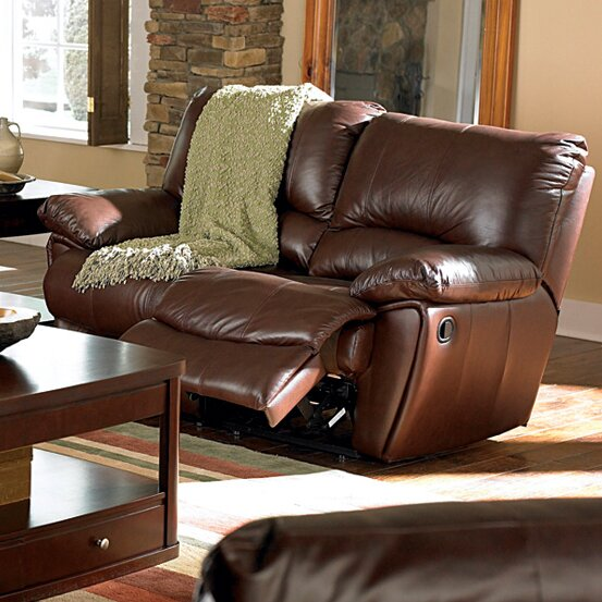 Cheap Red Bluff Leather Reclining Loveseat by Wildon Home by Wildon Home�