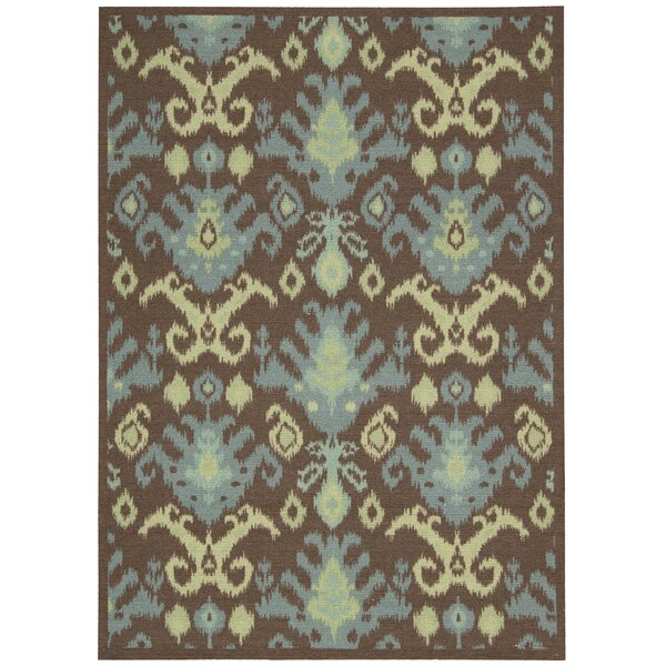 Appian Chocolate Area Rug by Bungalow Rose