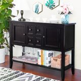 Franca 46 Wide 4 Drawer Pine Wood Server by August Grove