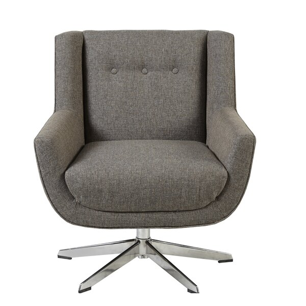 Tommy Swivel Wingback Chair by George Oliver