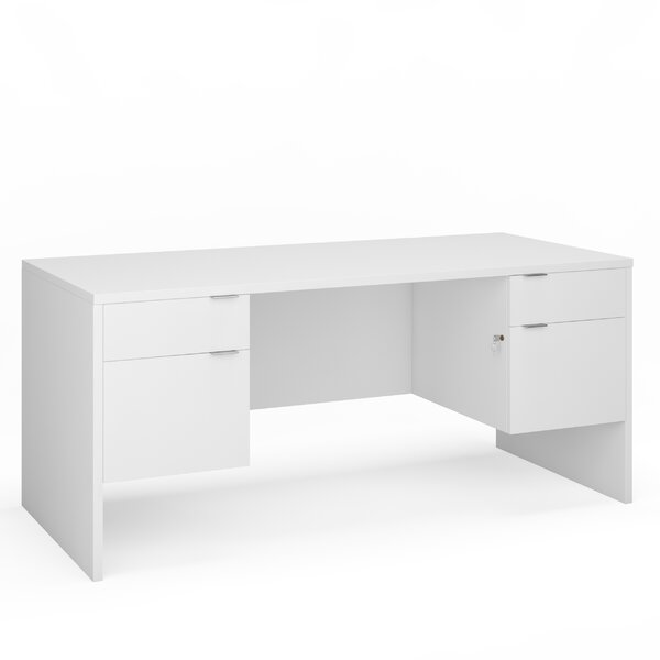 Precious Double Pedestal Desk by Symple Stuff