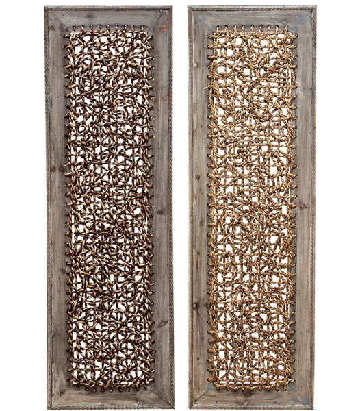 Wood Wall Decor Set (Set of 2) by World Menagerie