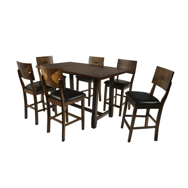 Lenka 7 Piece Counter Height Dining Set by Red Barrel Studio