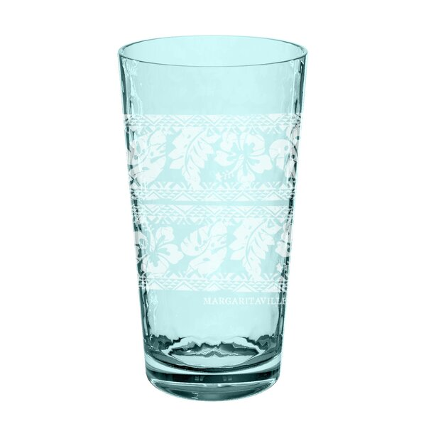 Margaritaville Batik 22 oz. Plastic Every Day Glass (Set of 6) by Margaritaville