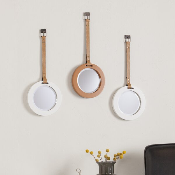 Wall Mirror with Strap (Set of 3) by Brayden Studio