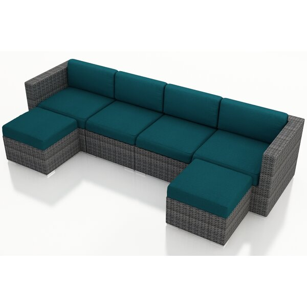 District 6 Piece Sunbrella Sectional Set with Cushions by Harmonia Living