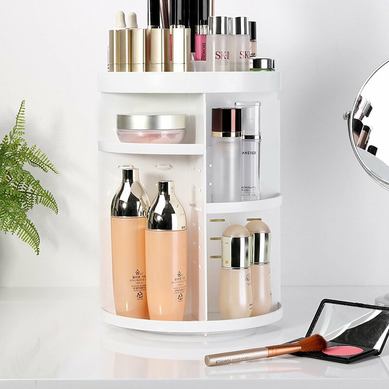 Etting Cosmetic Organizer with Adjustable Shelves
