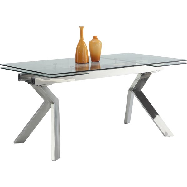 Ella Extension Dining Table by Chintaly Imports