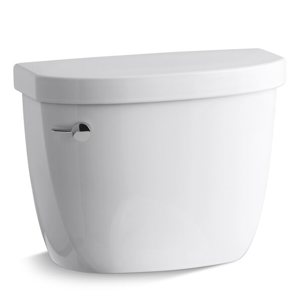 Cimarron 1.28 GPF High Efficiency Toilet Tank with Aquapiston Flush Technology and Insuliner Tank Liner by Kohler