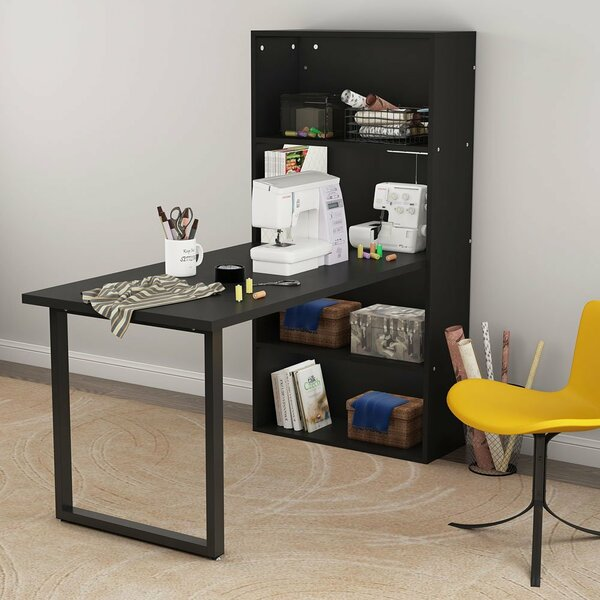 Jamil Hobby Desk with Hutch