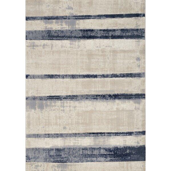 Bartholdi Faded Blue/Cream Stripes Area Rug by Latitude Run