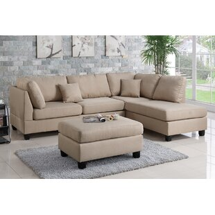 Astonishing Hemphill Reversible Sectional With Ottoman Theyellowbook Wood Chair Design Ideas Theyellowbookinfo