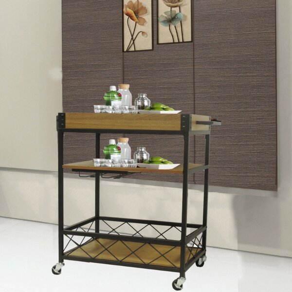 Booth Kitchen Mobile Serving Bar Cart by Williston Forge