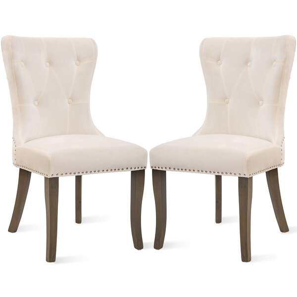 Cagle Upholstered Dining Chair (Set of 2) by One Allium Way