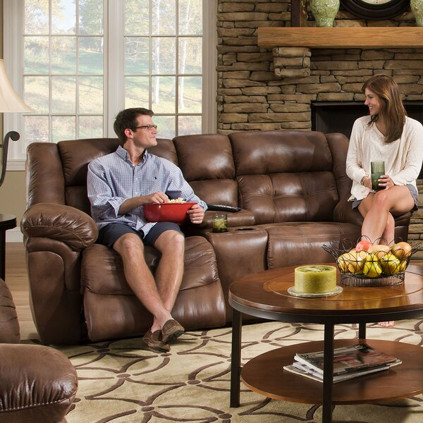 Simmons Upholstery Hanna Motion Console Reclining Sofa by 17 Stories