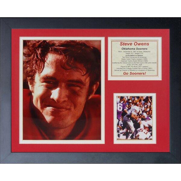 Steve Owens - Oklahoma Framed Memorabilia by Legends Never Die