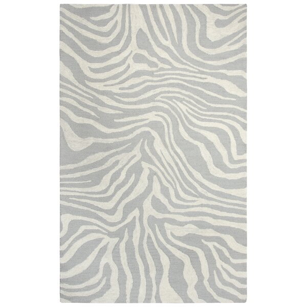 Harpreet Hand-Tufted Wool Beige/Gray Area Rug by E