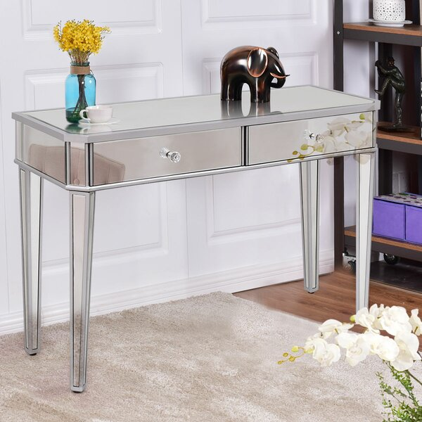 Mansour 2 Drawer Mirrored Vanity By House Of Hampton Great price