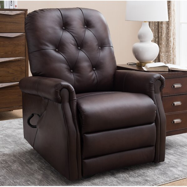 Airlia Leather Power Lift Assist Recliner by Darby Home Co Darby Home Co