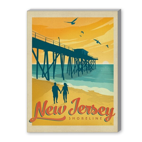 Jersey Shore Framed Vintage Advertisement by East Urban Home