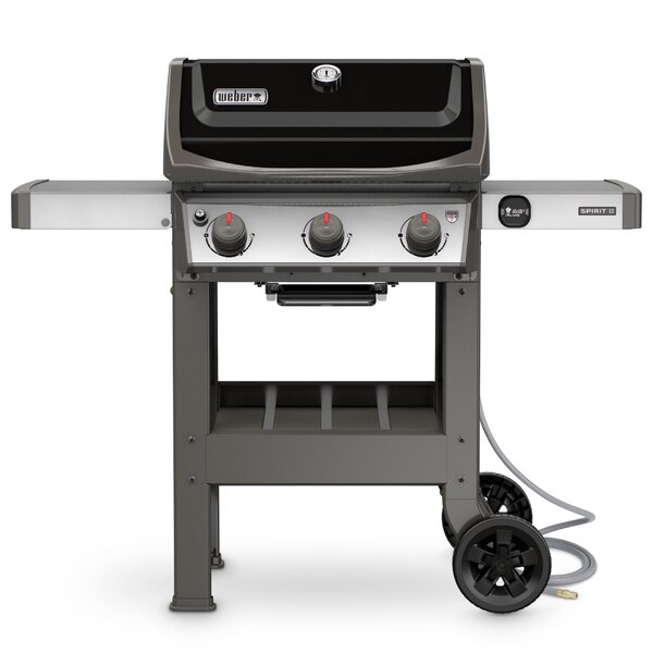 Spirit II E-310 3-Burner Natural Gas Grill with Side Shelves by Weber