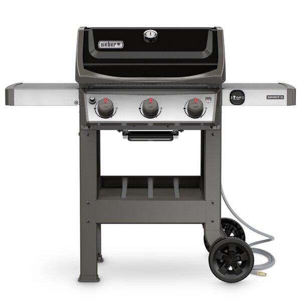 Spirit II E-310 3-Burner Natural Gas Grill with Side Shelves by Weber